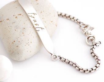 Trust - Message To Myself Silver Bracelet
