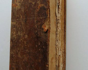 1835 Antique Leather Dictionary