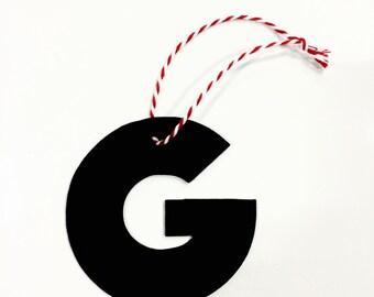 """Vinyl Record Art: Letter """"G"""" Ornament"""
