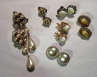 Jewelry Lot for Crafts, Jewelry for Hobbies, Vintage Jewelry for Projects, Jewelry for Wedding Bouquets, Jewelry for Repurposing