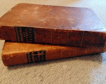Robley Dunglison's Therapeutics and Materia Medica, Medical Textbook, 1843, 2 volume set, General Therapeutics, Lea & Blanchard/Doctor Gift