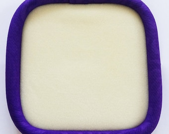 "Square 23 cm Beading Tray Silaba ""Purple Embossed"""