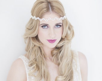 Elianne bridal halo headdress