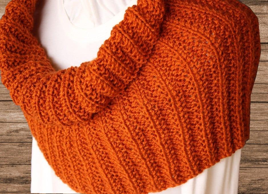 Knitting Rib Stitch On Circular Needles : Knit cowl pattern rib patterns