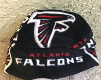 Atlanta Falcons Fleece Hat -Sizes Newborn Baby, Children and Adults