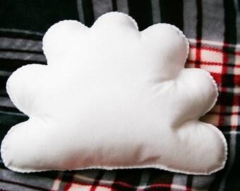 White Cloud Cushion, Cloud Shape Throw Pillow, Decorative Pillow, Cloud Nursery, Kids Room Decor, Baby Room Decor, Kids Cushion, Plush Cloud