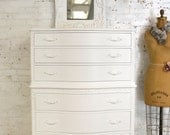 Painted Cottage Chic Shabby French Dresser/ Chest CH895