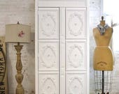 Armoire Painted Cottage Chic Shabby French Romantic Armoire AM212