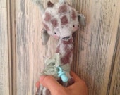 SPRING IS COMING Made To Order 9 inch Artist Handmade Blythe Friend Mint Baby Giraffe by Sasha Pokrass