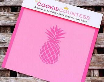 Pineapple Cookie Stencil, Pineapple Sugar Cookie Stencil, Pineapple Fondant Stencil, Cookie Countess Cookie Stencil, Pineapple Stencil