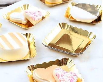 Mini Gold Appetizer Plate, Mini Gold Dessert Plate, Gold Dessert Tray, Gold Appetizer Tray, Mini Gold Cookie Tray, Mini Gold Cookie Plate