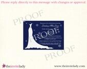 Winter Gown, Navy, Bridal Shower Invitation-65