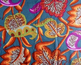 Kaffe Fassett Forest of Arden, brown, OOP, rare, vhtf early Westminster floral, by the half yard