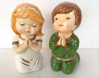 Vintage Praying Children