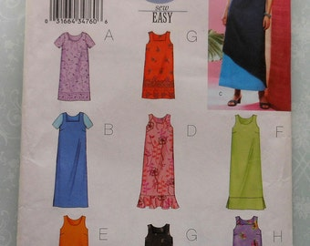 Dress Sewing Pattern UNCUT Butterick 3442 Sizes 8-12