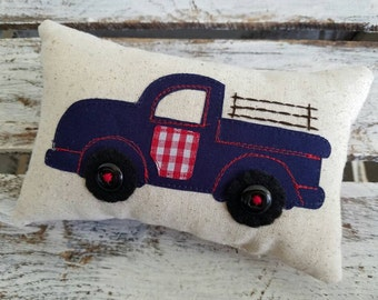 Childrens Vintage Pickup Truck Tooth Fairy Pillow