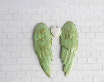 Light green angel wings in 1:12 scale