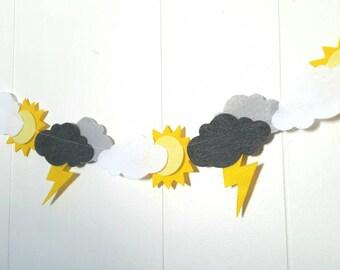 Sun Cloud & Lightning Banner