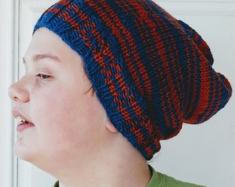 Slouch Hat -Stripes -  Blue and Bronze - Ravenclaw