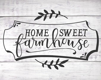 Home Sweet Farmhouse Print - Farmhouse Decor, Wood Sign Print, Housewarming Gift, Farmhouse Wall Art, Rustic Wall Decor, Hand Lettered Art