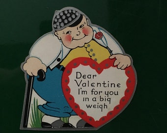 Antique Valentine, Bad Pun Card, Valentines Day gift, Greeting Card