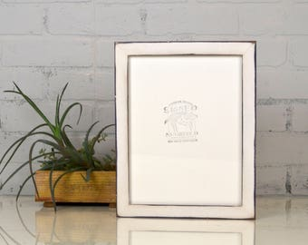 8.5 x 11 Picture Frame in 1x1 Flat Style with Super Vintage Purple under White Finish - IN STOCK Same Day Shipping - 8.5x11 Picture Frame