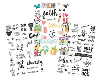 "Faith Clear Stickers 4""X6"" 79/Pkg Simple Stories (7725) Planner Sticker"