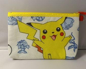 Pokemon Fabric Zipper  Pouch  Handmade -- Pencil Pouch, Gadget Pouch