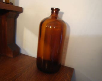 Large Vintage brown apothecary bottle 13 inches