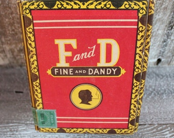 1940'S Fine And Dandy Cigarette Box - Vintage Advertising