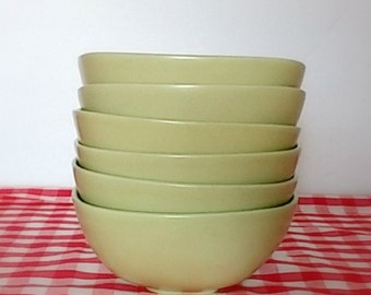 "Hoganas Keramiks Olive Gren 6"" All Purpose Bowl Collectible Mid Century Modern"