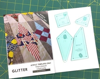 Glitter Acrylic Template Set by Jen Kingwell (Quilt Lovely)