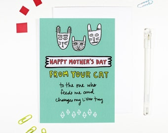 Happy Mother's Day From Your Cat Card