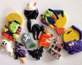 11 vintage Halloween magnets