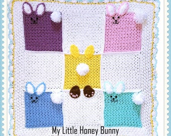 My Little Honey Bunny Baby Afghan Crochet Pattern PDF-Instant Download