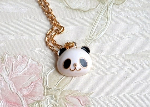 Panda Necklace Pendant Necklace Panda Bear Necklace Animal