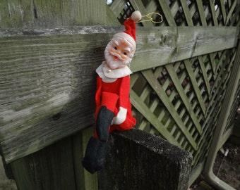 Vintage Knee Hugger Santa Elf with Chimes
