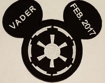 Star Wars Inspired Mousehead Empire Applique, perfect for any Star Wars fan or Disney visit. Personization available.