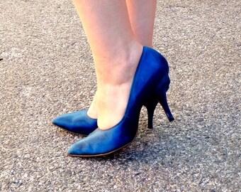 1950's blue heels
