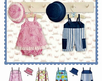 Infant Rompers and Hat Pattern, Toddler Rompers and Hat Pattern, Toddler's Sundress Pattern, Simplicity Sewing Pattern 8142