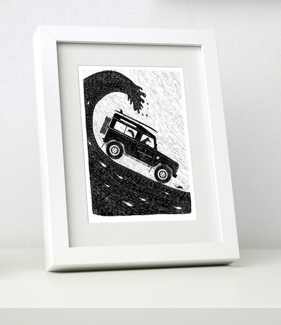 Fox Defender - Small Framed Print