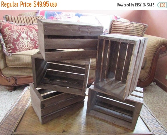 On sale wooden crates wood wedding reception by