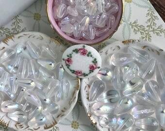 Aurora Borealis beads,crystal Beads,AB beads,iridescent beads,loose beads,shabby chic #1695