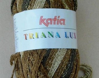 Katia Triana Lux Frilly Ruffle yarn, color #31 (Mocha)