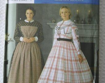 Fashion Historian Simplicity 7212 Civil War Era Dress Martha McCain Size RR 14, 16, 18, 20