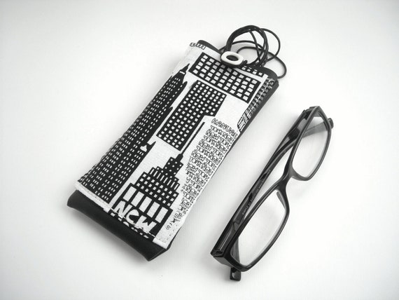 Eyeglass Frames New York City : New York city eyeglass case lanyard eyewear holder black