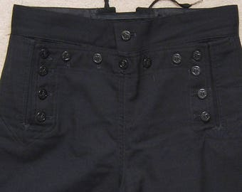 Vintage men's blue wool navy uniform pants/ Vint navy uniform pants