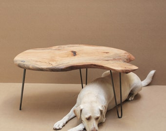 Pecan Coffee Table Hairpin legs