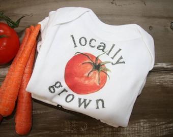Baby Onesie - Locally Grown tomato