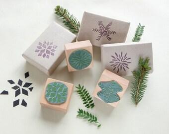 Rubber Stamp Set | Christmas stars | DIY wrapping | Christmas stocking |  STUDIO KARAMELO